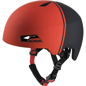 Alpina Hackney Casque Enfant, black-red